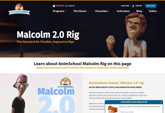 Screenshot of www.animschool.com