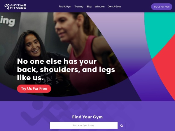 Screenshot of www.anytimefitness.com