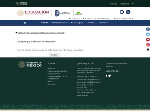 Screenshot of www.apizaco.tecnm.mx