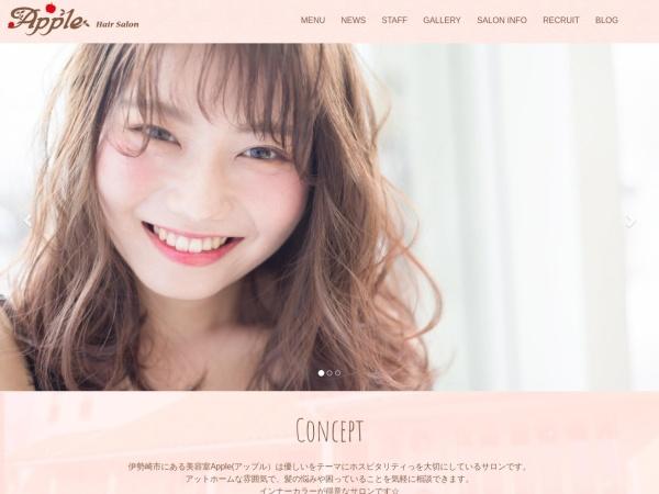Screenshot of www.apple-hair.jp