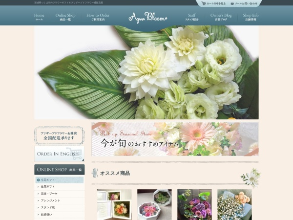 Screenshot of www.aqua-bloom.com