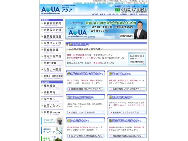 Screenshot of www.aqua-tax.co.jp