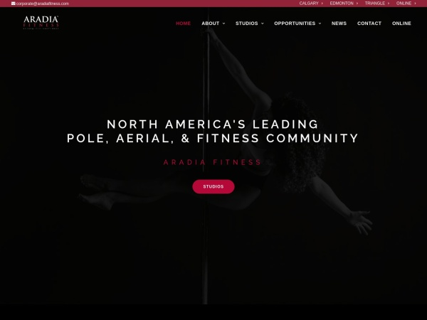 Screenshot of www.aradiafitness.com