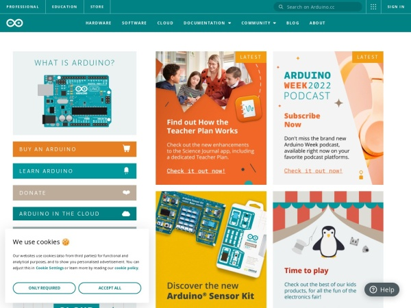 arduinoIDEダウンロードページ