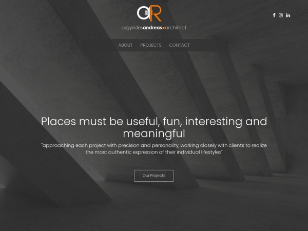 Screenshot of www.argyridesarchitects.com