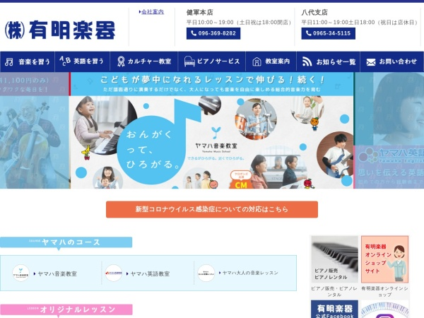 Screenshot of www.ariakegakki.co.jp