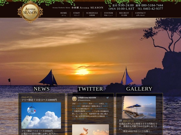 Screenshot of www.aroma-season.com