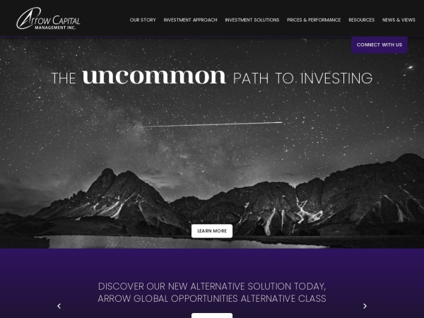Screenshot of www.arrow-capital.com
