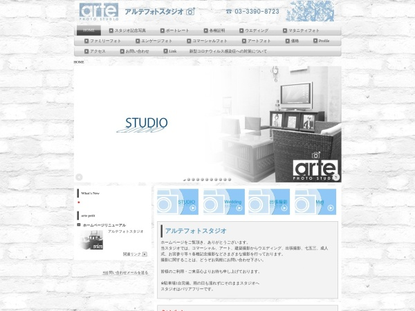 Screenshot of www.arte-photo.jp