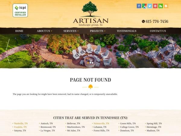 Screenshot of www.artisanlandscapegroup.com