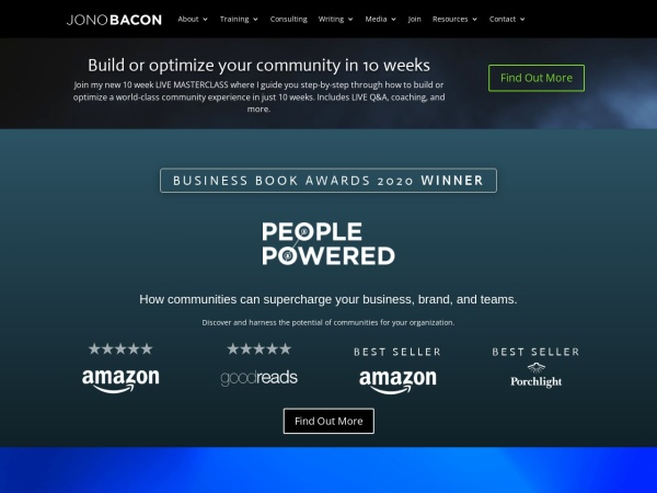 Screenshot of www.artofcommunityonline.org