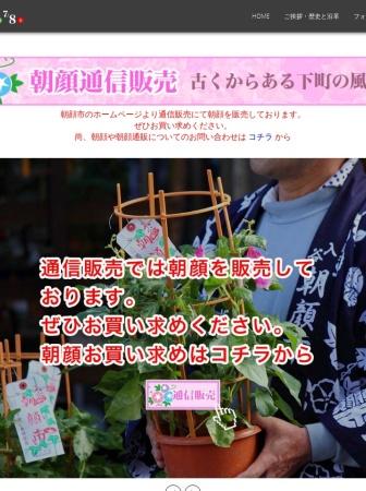 Screenshot of www.asagao-maturi.com