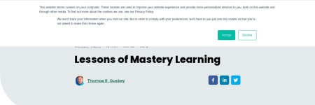 Lessons of Mastery Learning