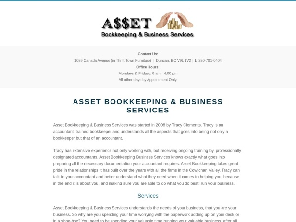 Screenshot of www.asset-bookkeeping.com
