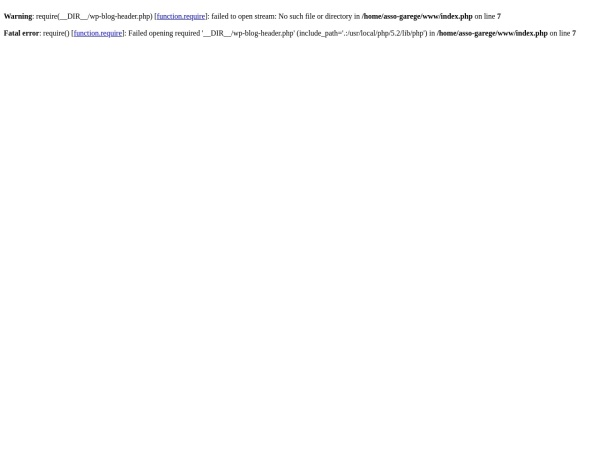 Screenshot of www.asso-garage.com
