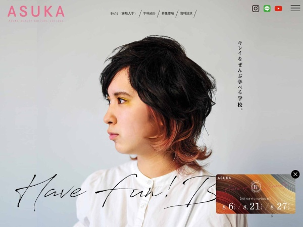 Screenshot of www.asuka.ac.jp