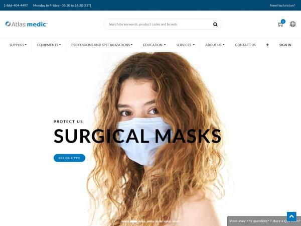 Screenshot of www.atlasmedic.com