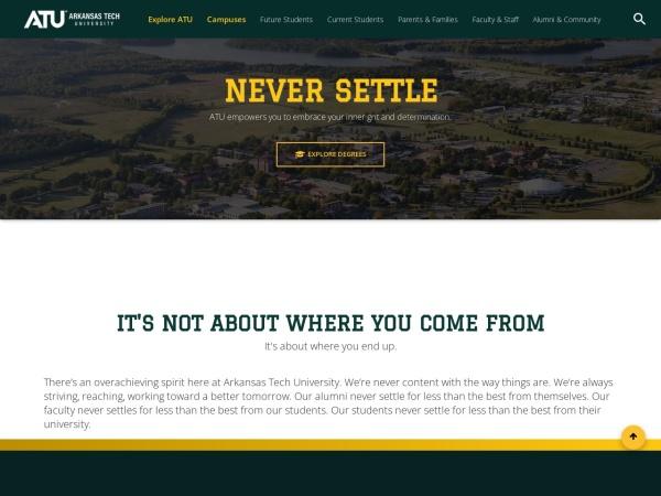 Screenshot of www.atu.edu