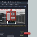 Screenshot of www.audiogrocery.com