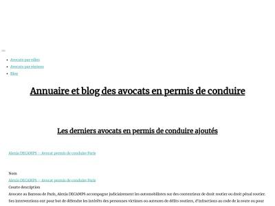 L'annuaire des avocats du droit routier en France
