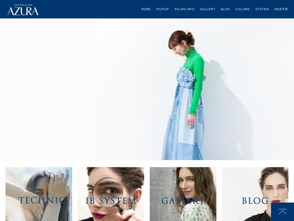 Screenshot of www.azura.jp