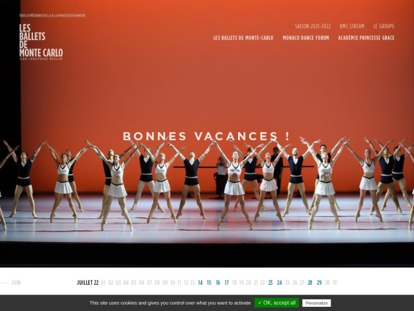 Screenshot of www.balletsdemontecarlo.com