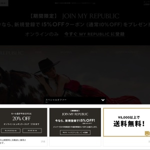 Screenshot of www.bananarepublic.co.jp