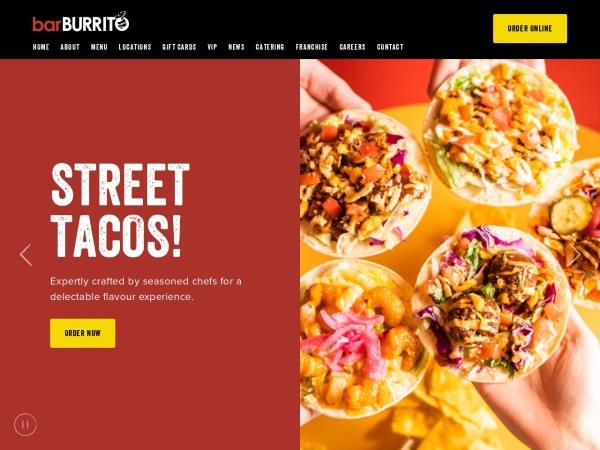 Screenshot of www.barburrito.ca