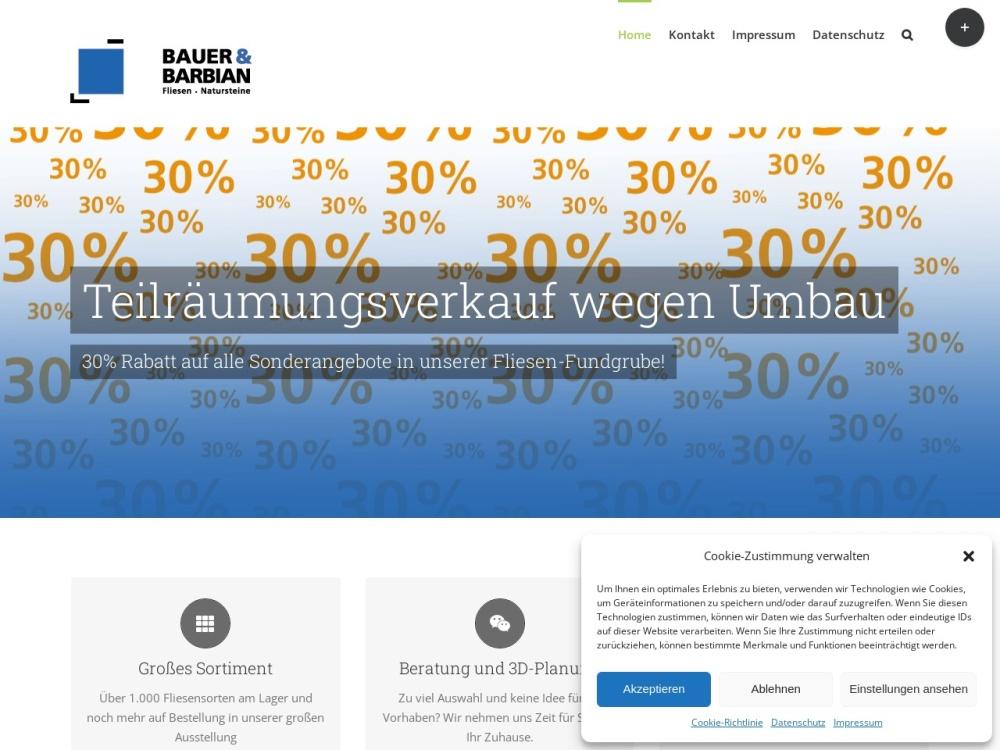 Screenshot of www.bauer-barbian.de