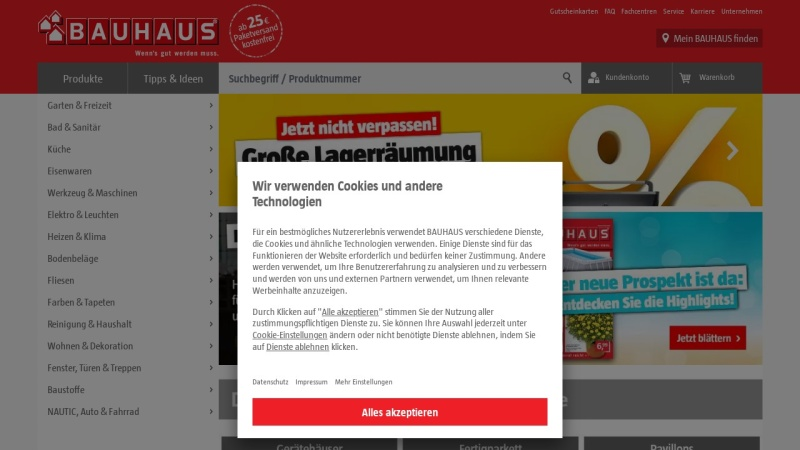 Screenshot of www.bauhaus.info