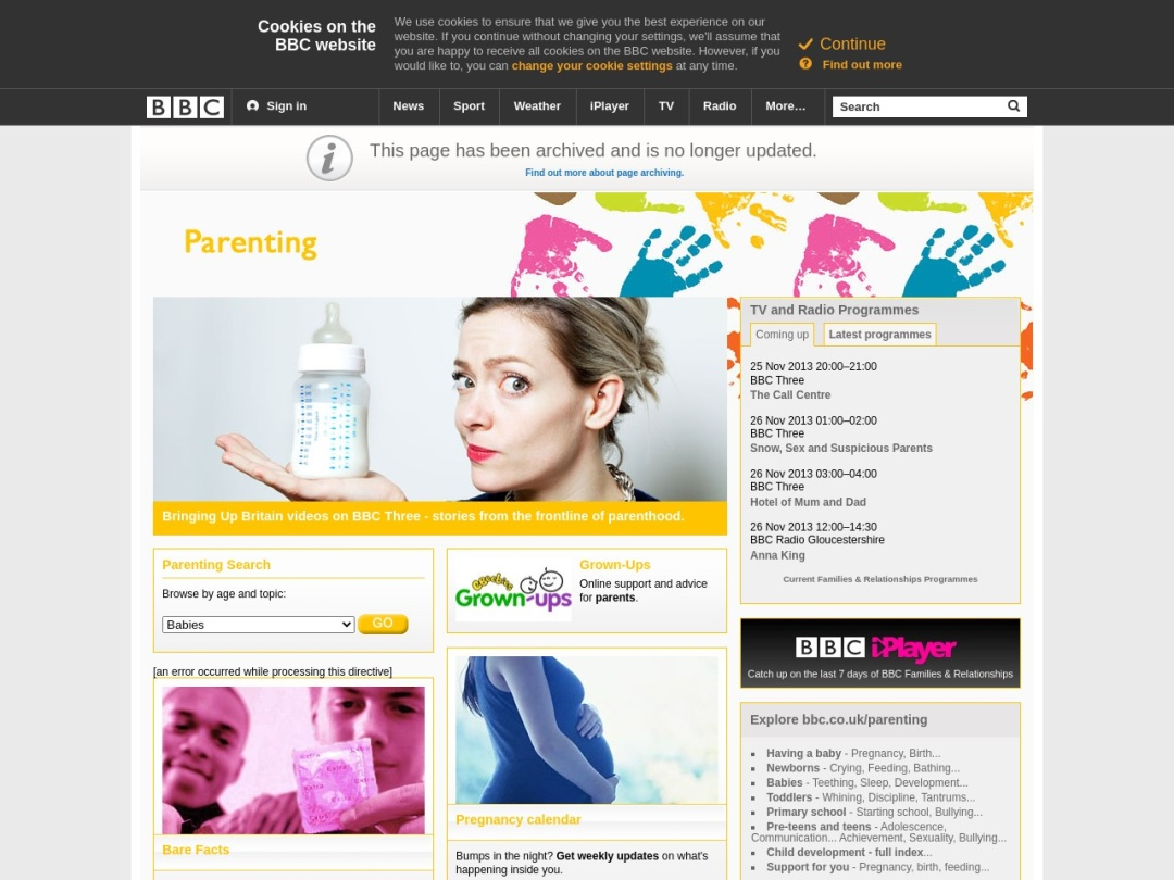 Screenshot of www.bbc.co.uk