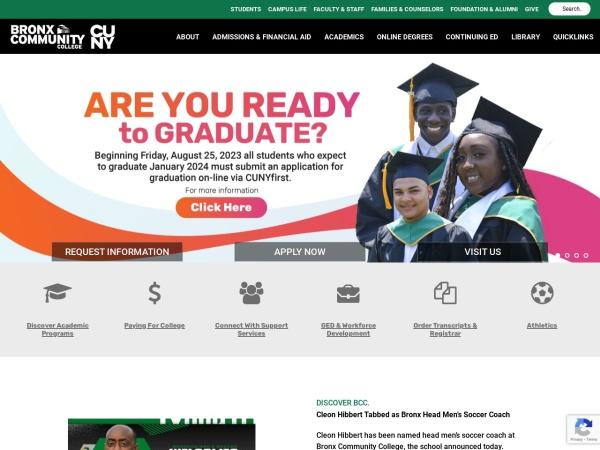 Screenshot of www.bcc.cuny.edu
