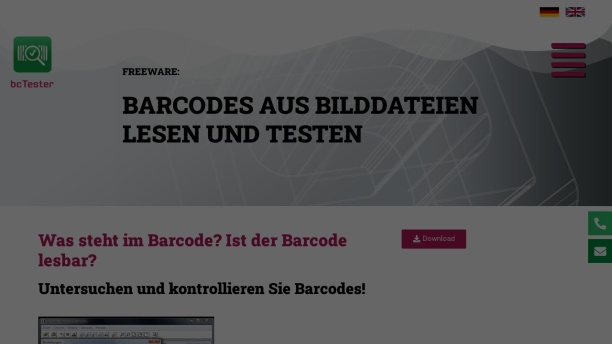 Screenshot of www.bctester.de