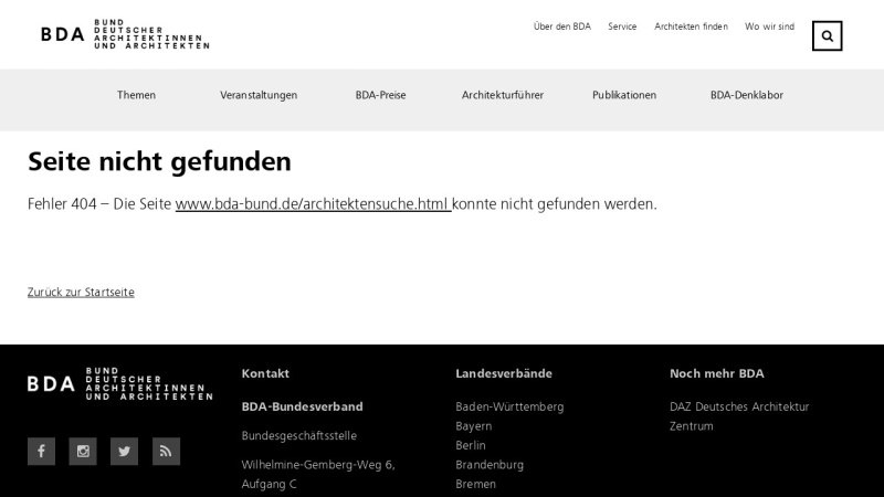 Screenshot of www.bda-bund.de