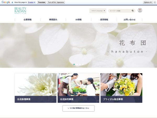 Screenshot of www.beauty-kadan.co.jp