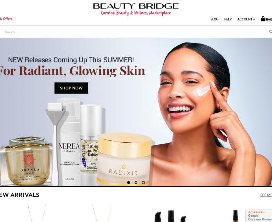 Screenshot of www.beautybridge.com