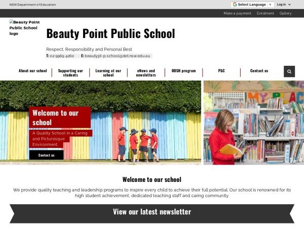 Screenshot of www.beautypt-p.schools.nsw.edu.au