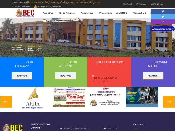 Screenshot of www.becbgk.edu