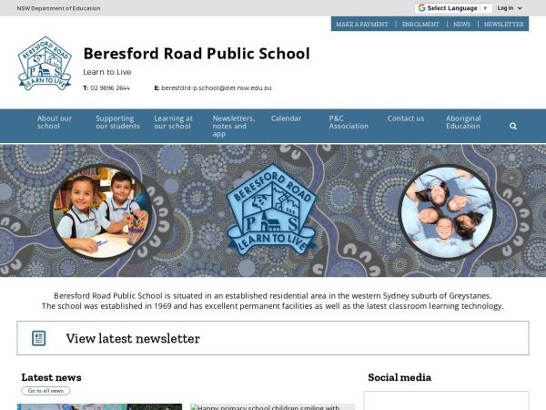 Screenshot of www.beresfdrd-p.schools.nsw.edu.au