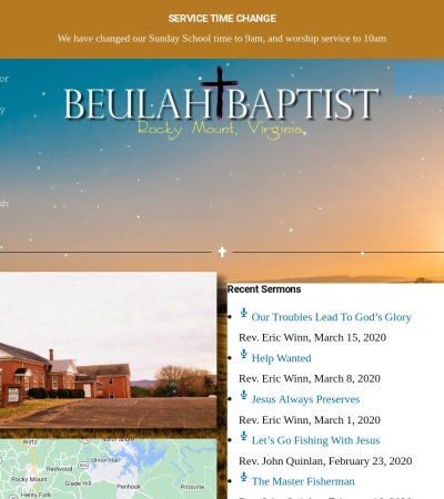 Screenshot of www.beulahbaptistchurch.faith