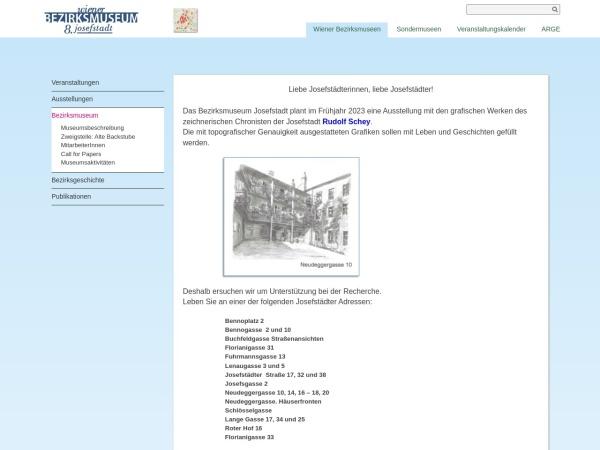 Screenshot of www.bezirksmuseum.at