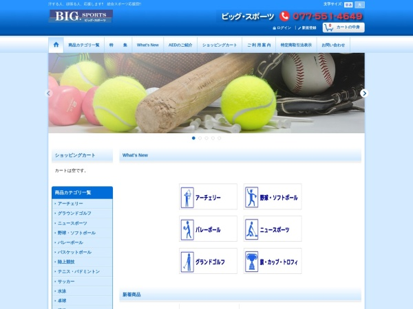 Screenshot of www.bigsports.jp