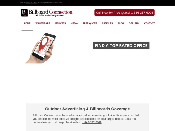 Screenshot of www.billboardconnection.com