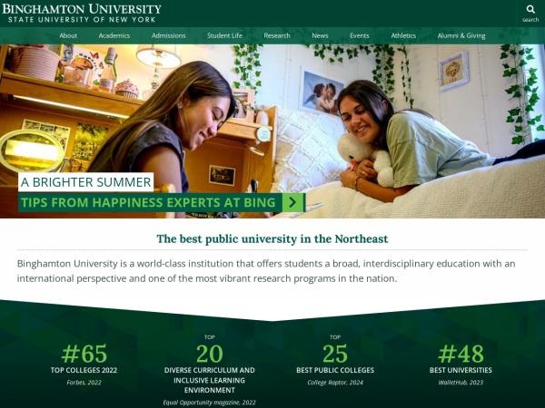 Screenshot of www.binghamton.edu