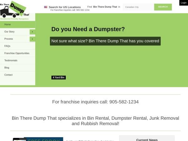 Screenshot of www.bintheredumpthat.com