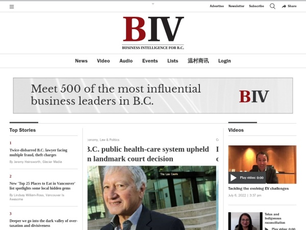 Screenshot of www.biv.com