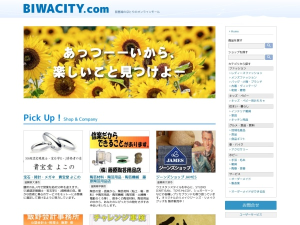 Screenshot of www.biwacity.com