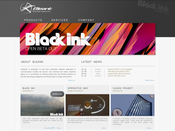 Screenshot of www.bleank.com