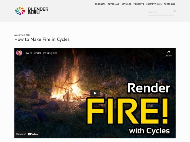 http://www.blenderguru.com/tutorials/make-fire-cycles/