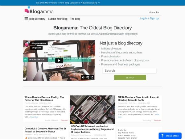 Suchmaschine Blogarama.com